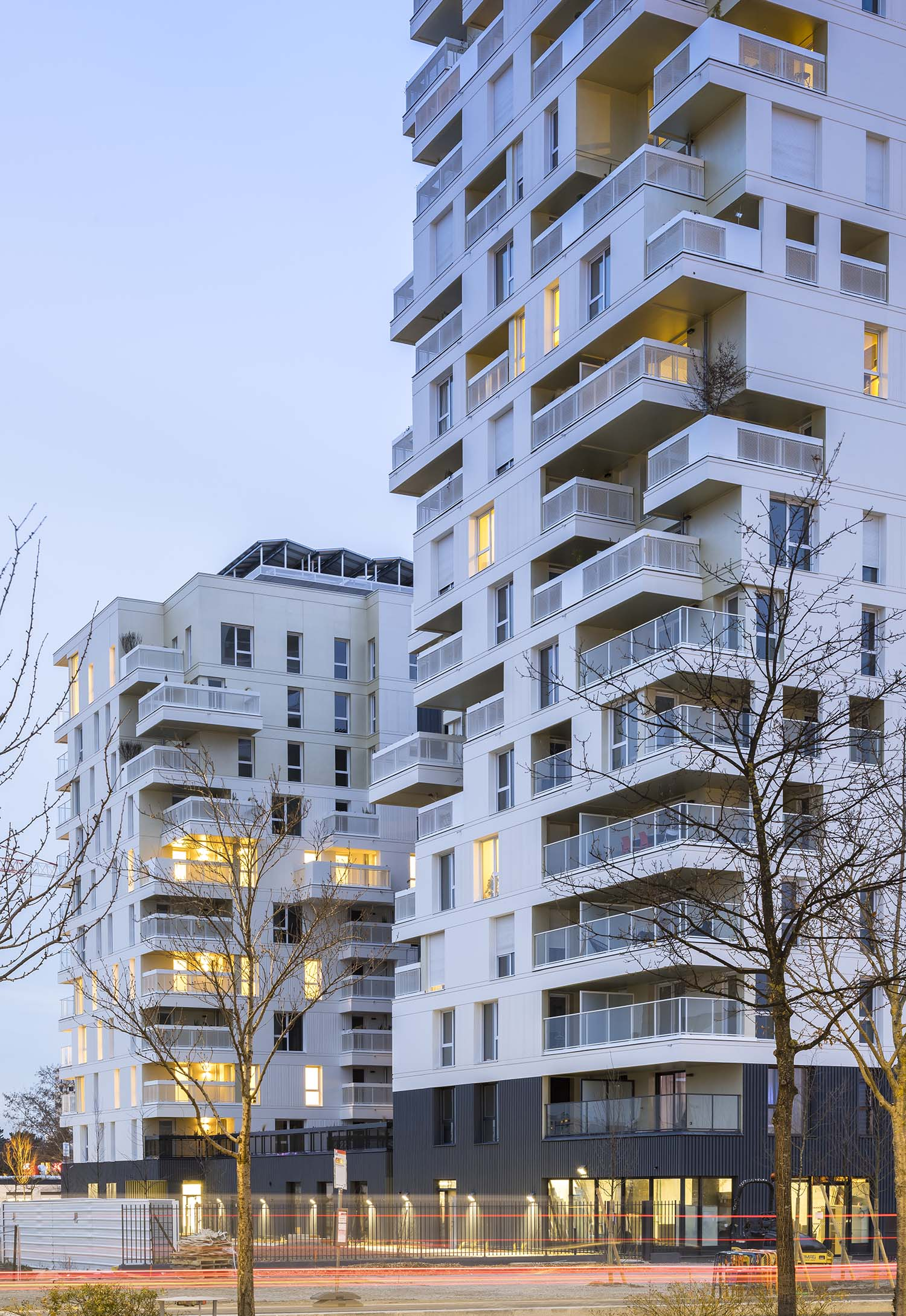 PETITDIDIERPRIOUX Architectes - 152 housing units in Villeurbanne - South facade Sergio Grazia
