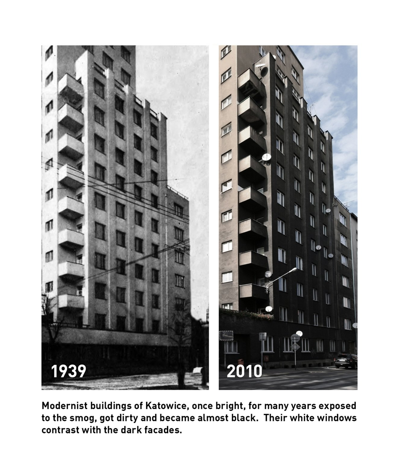 Modernist architecture then and now KWK Promes Robert Konieczny}