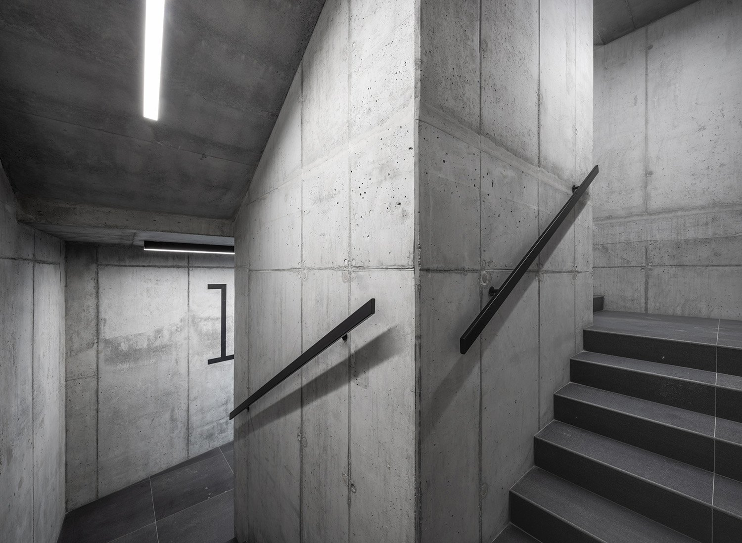 Interior, staircase.  Due to the limited budget we used only simple, economic and easy to implement solutions and technologies Juliusz Sokołowski
