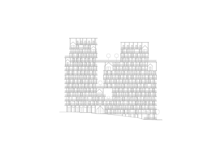 BAT - Est facade facing the garden © AAVP ARCHITECTURE AND AIRES MATEUS E ASSOCIADOS}