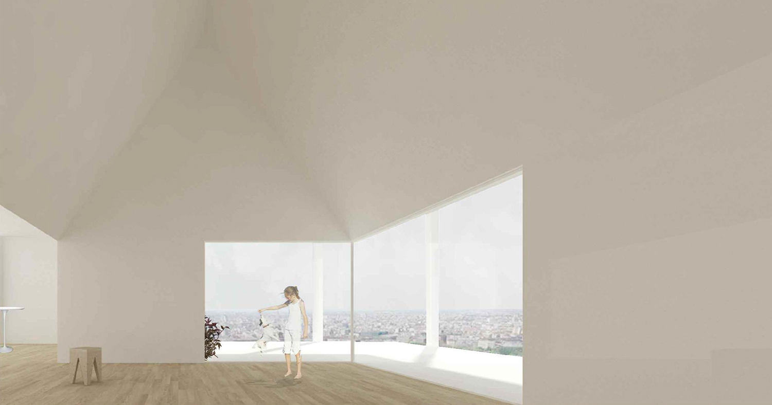 BAT - Perspective - Interior of an apartment © AAVP ARCHITECTURE AND AIRES MATEUS E ASSOCIADOS}
