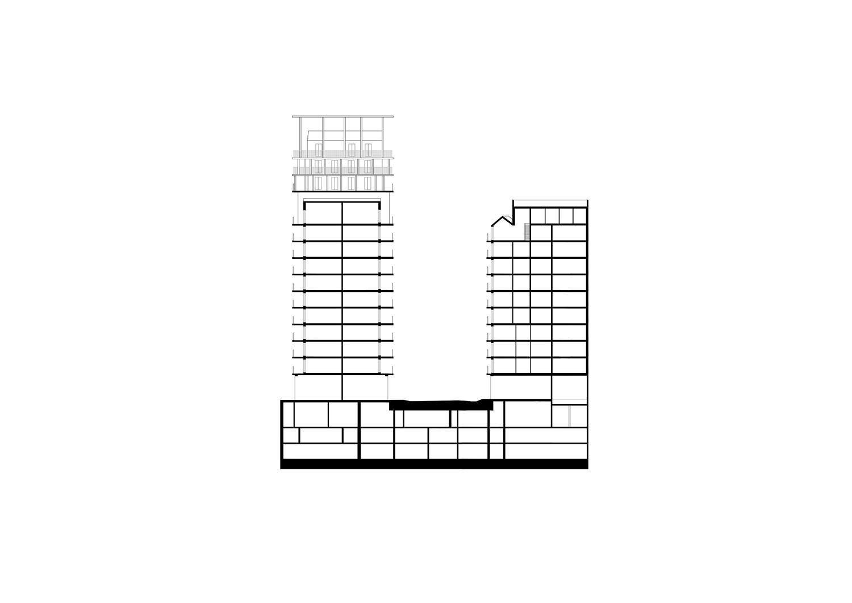 BAT - Section © AAVP ARCHITECTURE AND AIRES MATEUS E ASSOCIADOS}