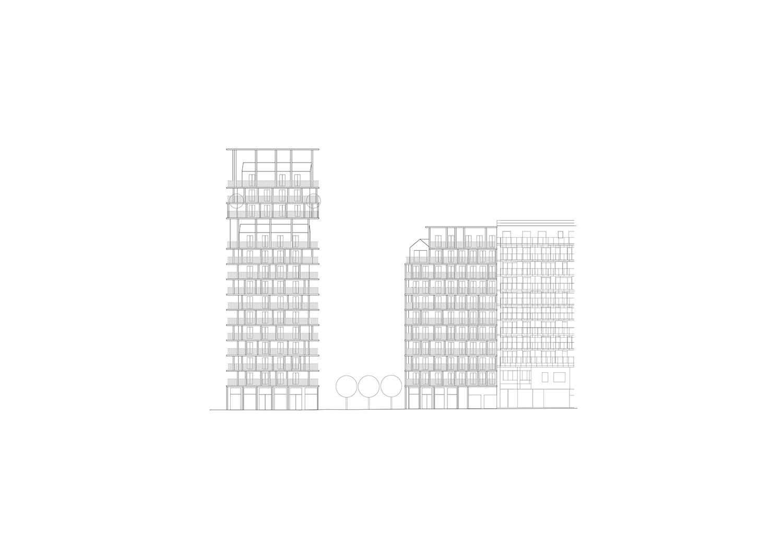 BAT - South facade © AAVP ARCHITECTURE AND AIRES MATEUS E ASSOCIADOS}
