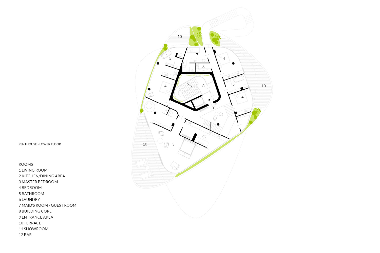Penthouse Lower Floor AVA Andrea Vattovani Architecture}