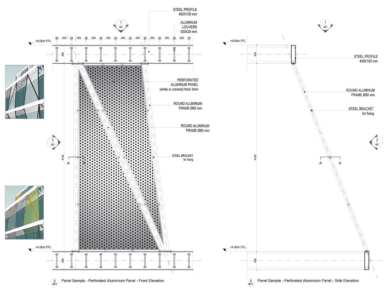 Frames/panels for the restaurants Peia Associati}