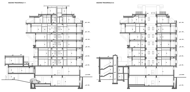 Sezioni trasversali corpo principale Archest s.r.l.}
