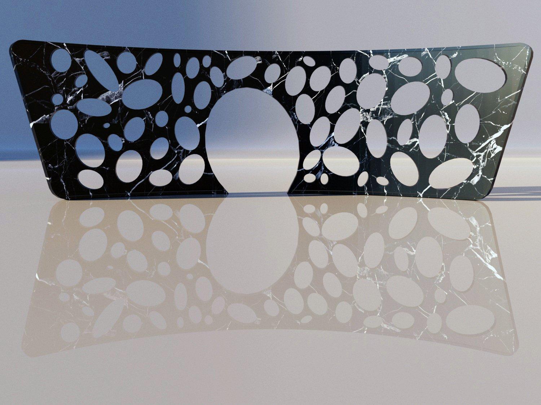 Wall in Marquinia marble cam 2 Architetto Tommaso Di Pierro}