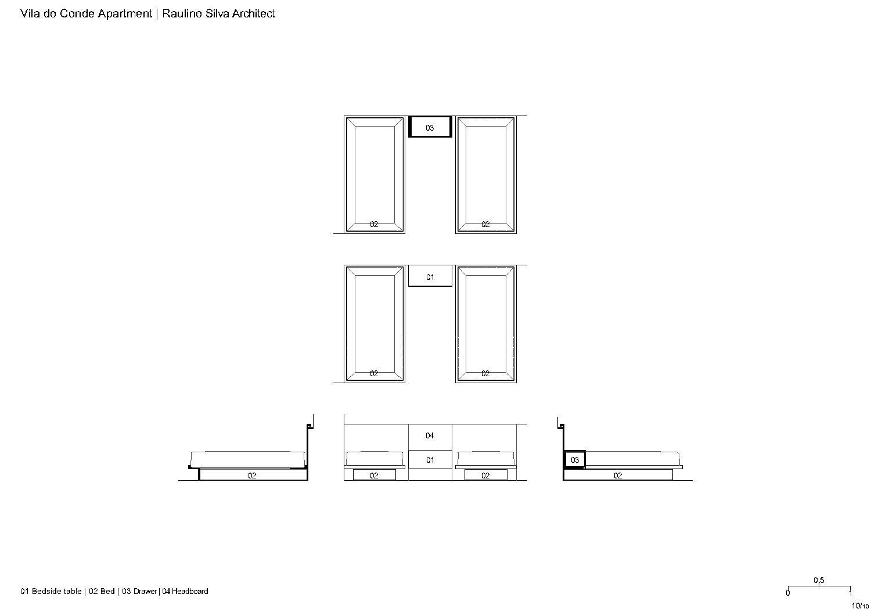 Bed Raulino Silva Architect}