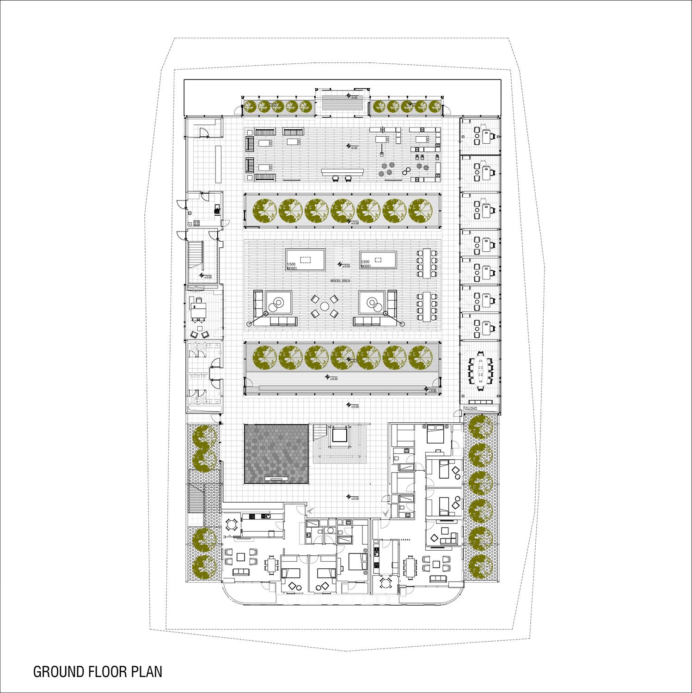 ground floor plan yazgan design architecture}