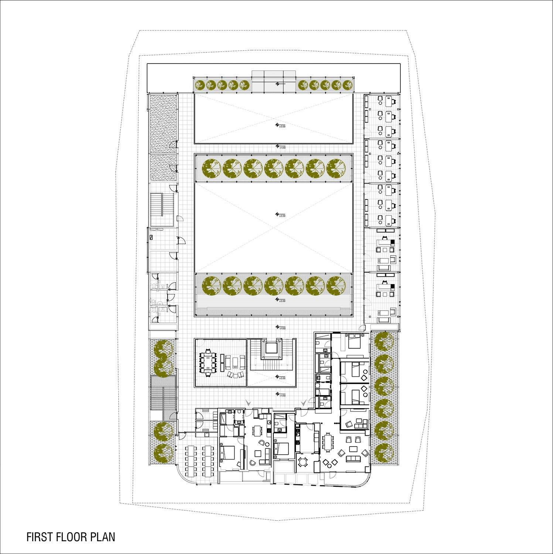 first floor plan yazgan design architecture}
