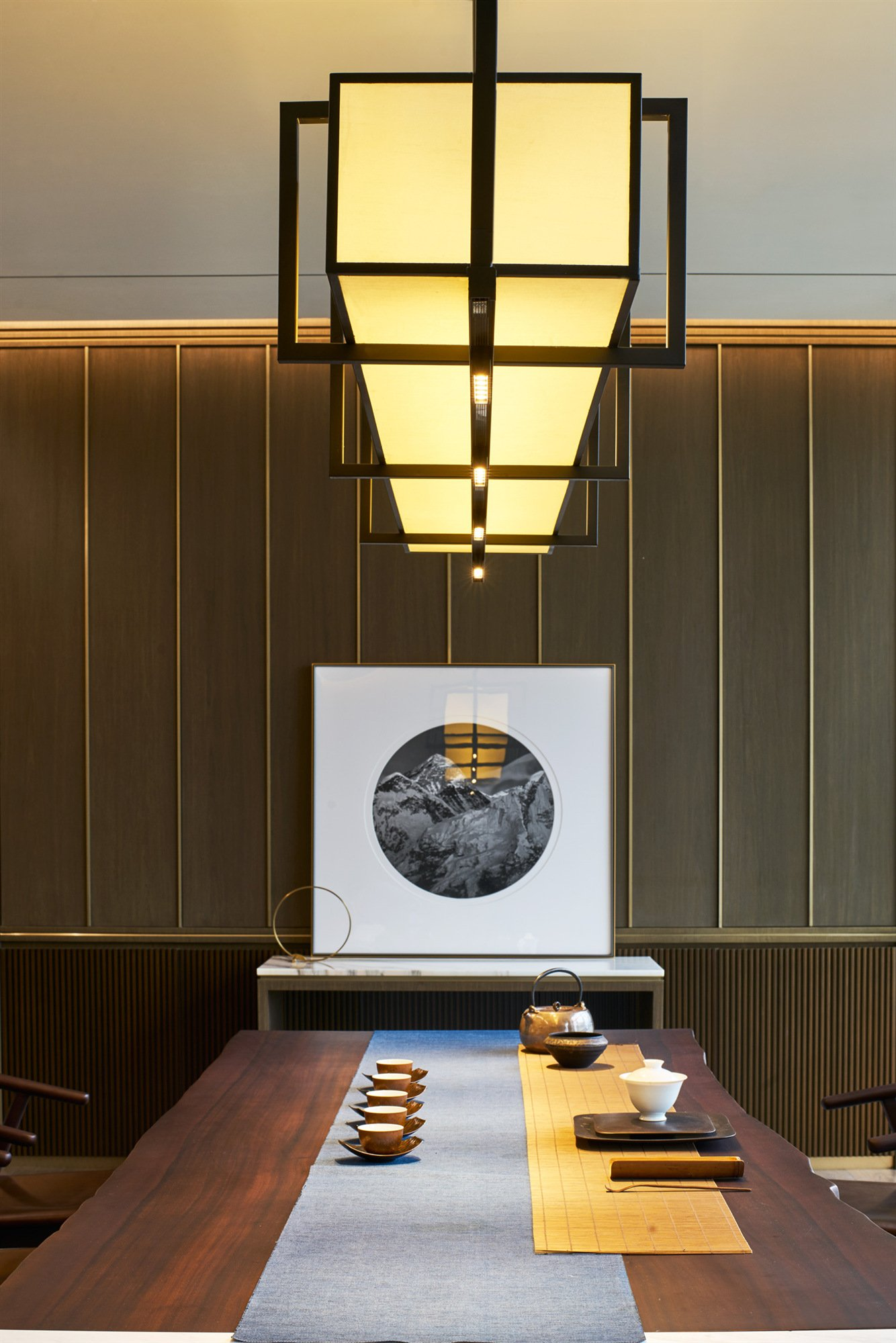 The Tea room presents a peaceful atmosphere BNJN design