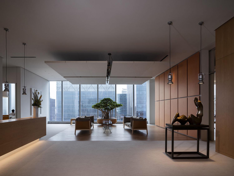 La reception ed il bonsai Nic Lehoux