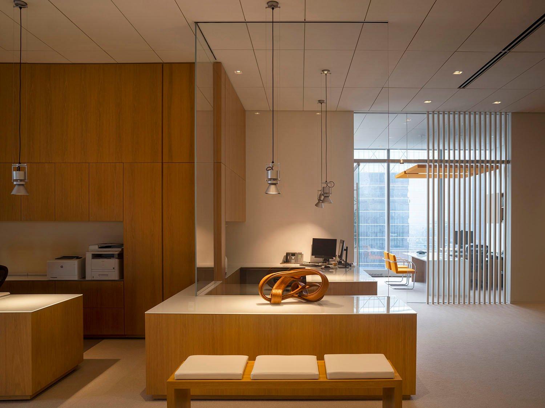 Gli spazi comuni e la zona uffici Nic Lehoux