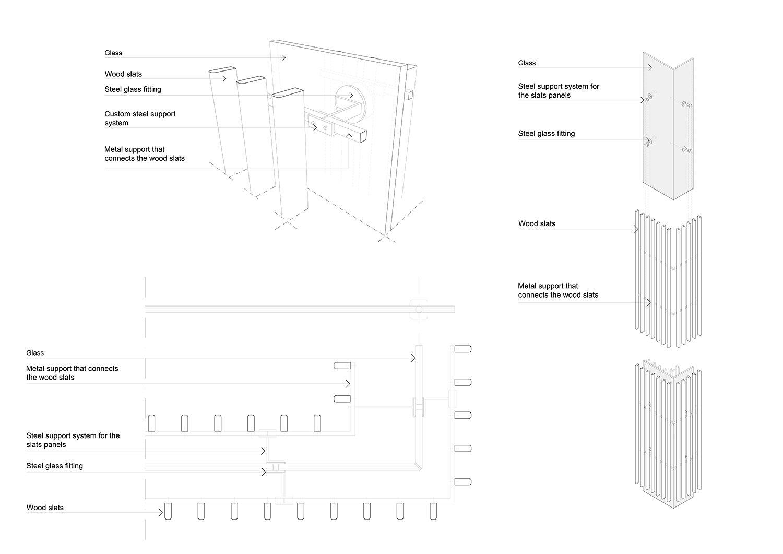 Sistema costruttivo delle pareti del Winter Garden Alvisi Kirimoto}