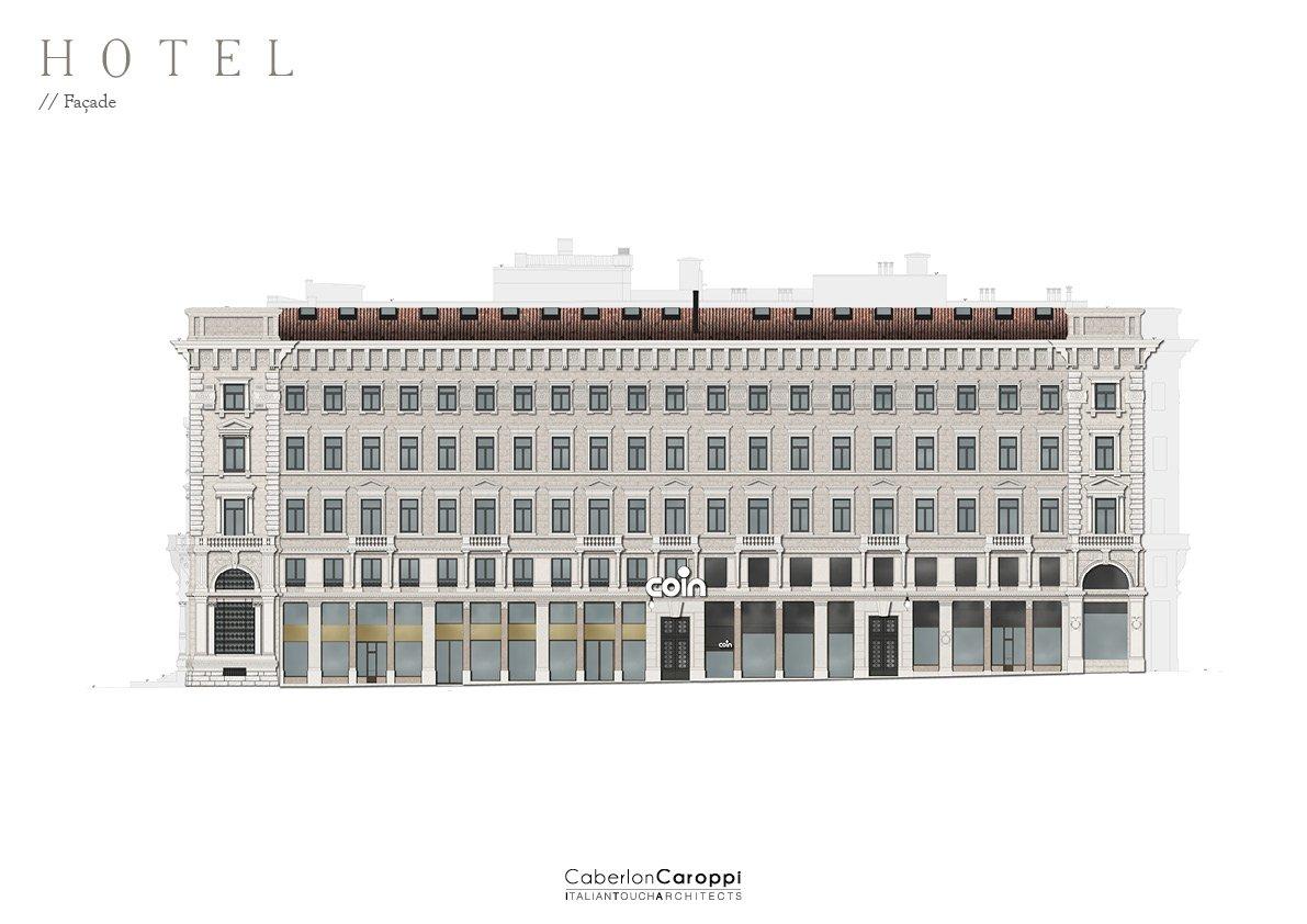 DoubleTree by Hilton_ Façade CaberlonCaroppi Architetti Associati}