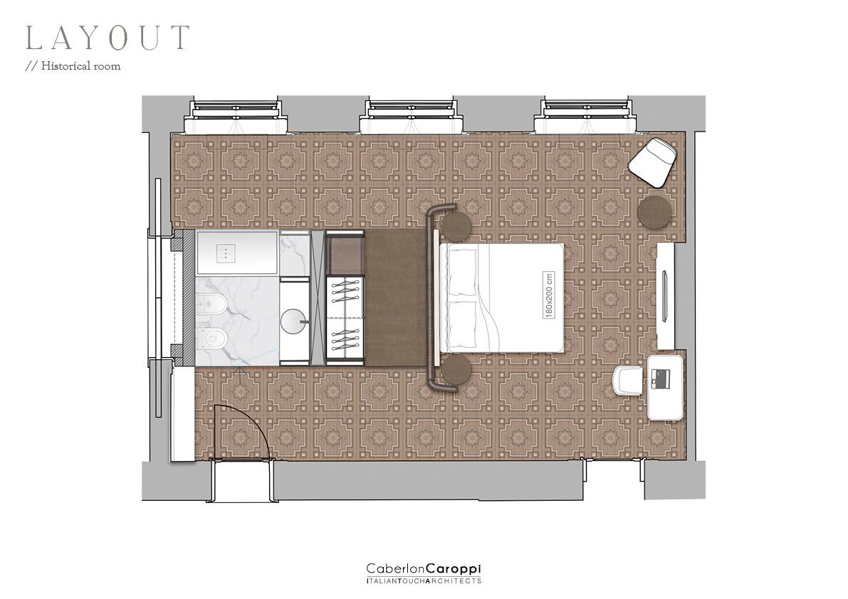 DoubleTree by Hilton_ Layout CaberlonCaroppi Architetti Associati}