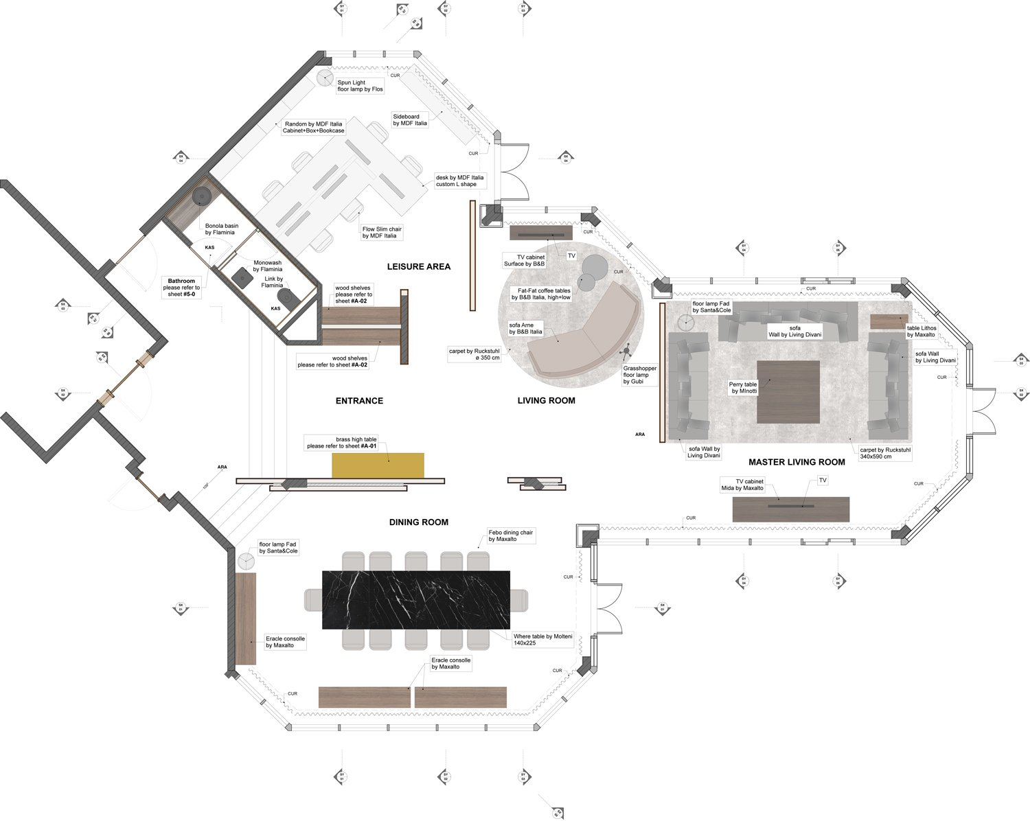 Plan of the penthouse duccio grassi architects}