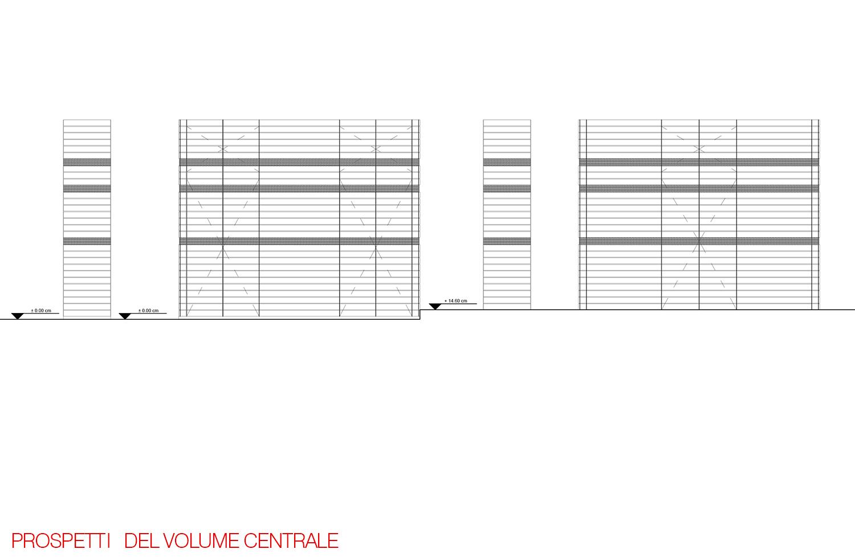 PROSPETTI VOLUME CENTRALE Architetti Cristina Iaconi e Andrea Greco}