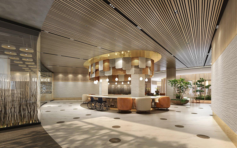 the lobby WS Architects}