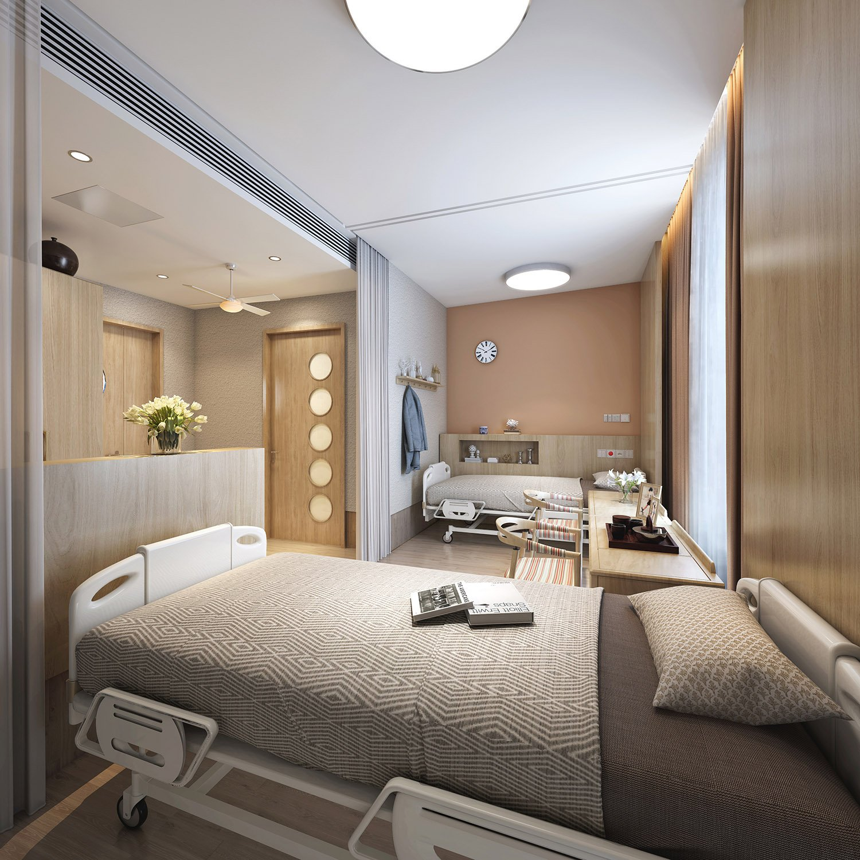 ward area: twin room WS Architects