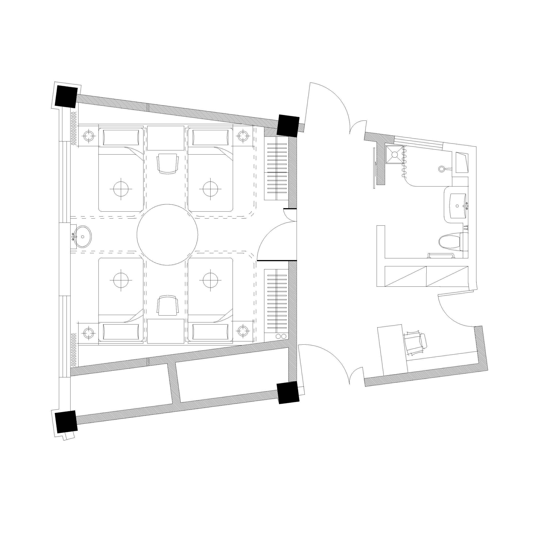 quadruple room WS Architects}