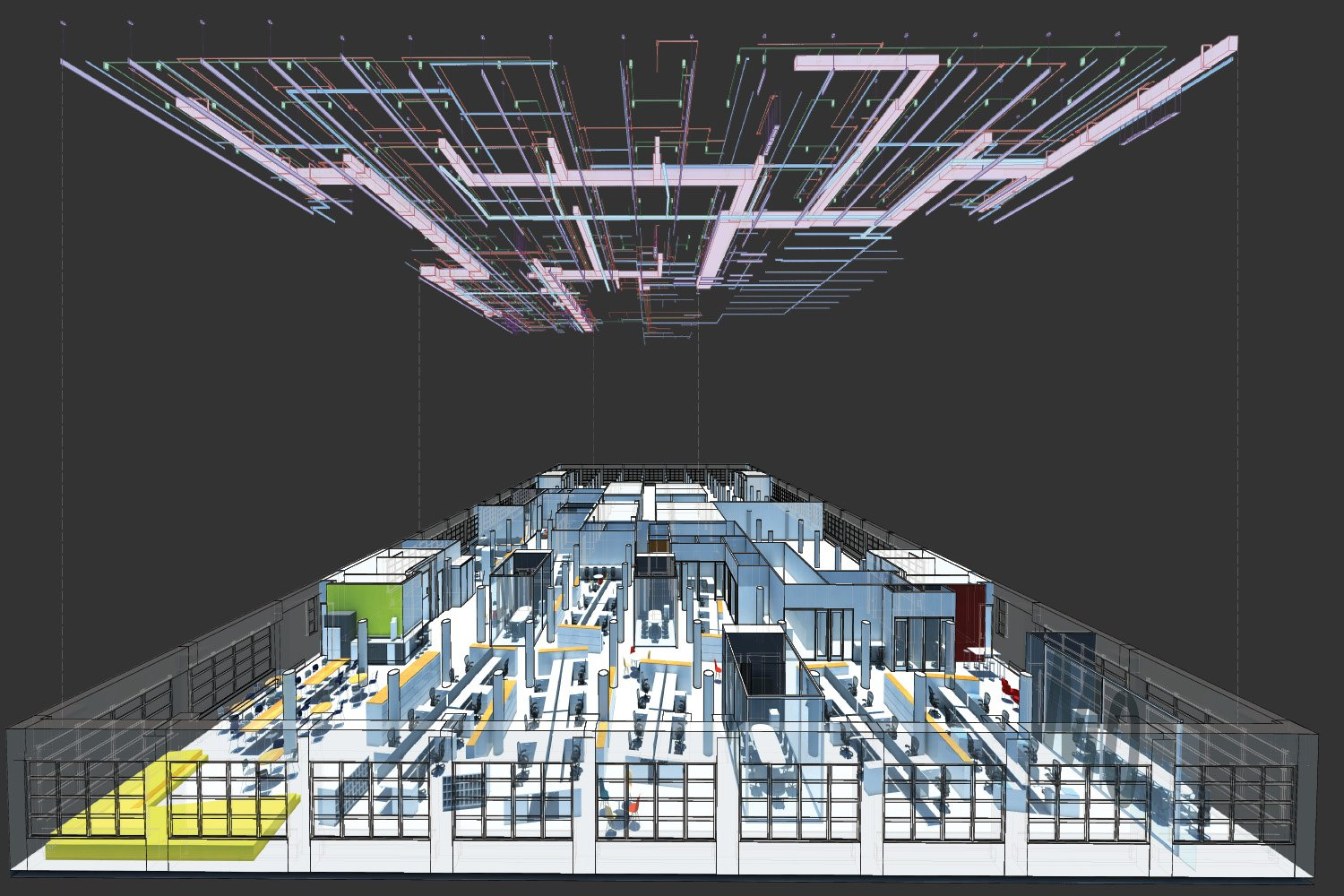 Exploded services diagram SM+H Architects LLP}