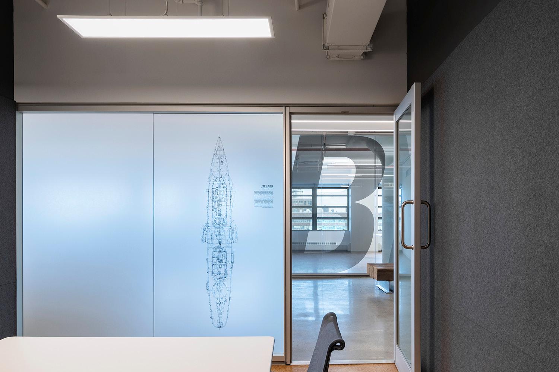 Felt walls at private conference room Michael Moran
