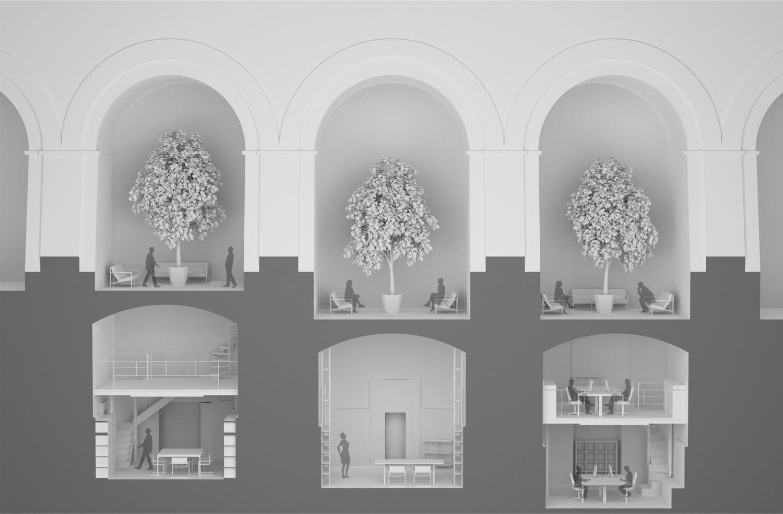 Sezione prospettica Macro Architects}