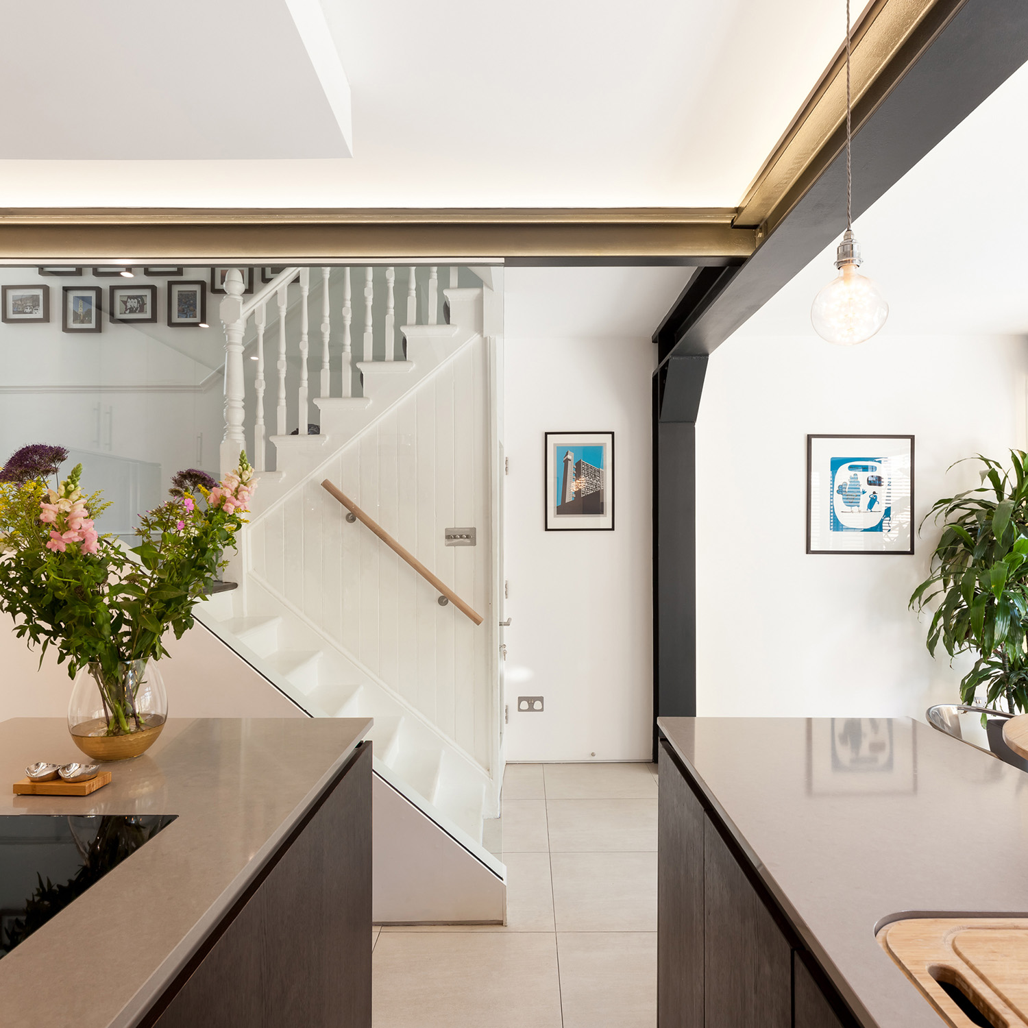 From the kitchen to the basement and staircase Peter Landers