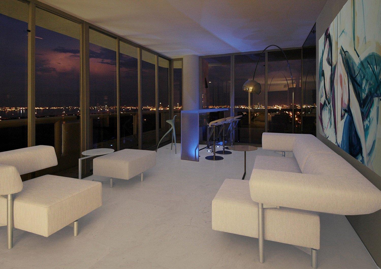Miami Penthouse Living Room - Night Time Dan Zaharia