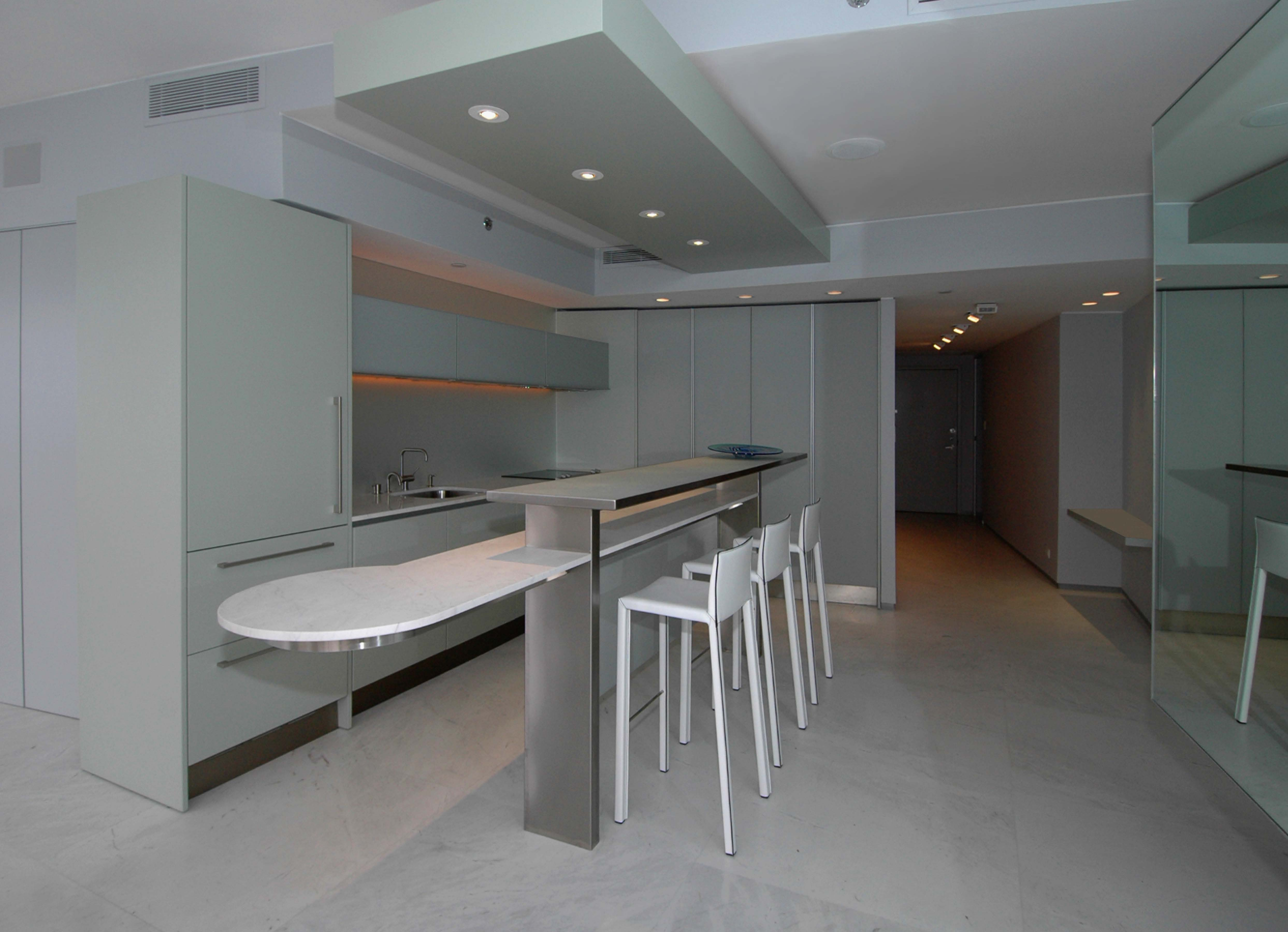 Miami Penthouse Kitchen From the Dining Area Dan Zaharia