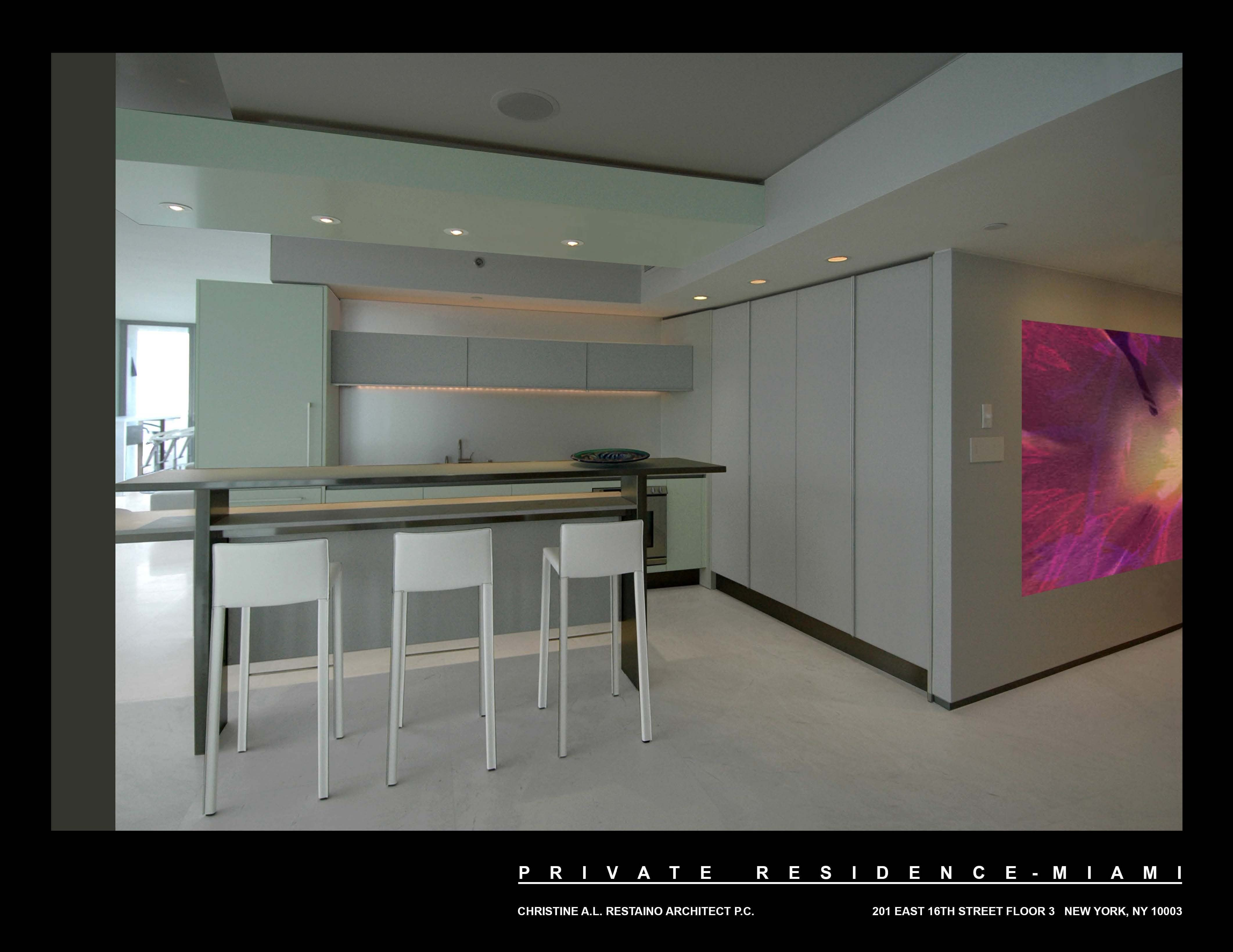 Miami Penthouse Kitchen - Overview From Master Bedroom Dan Zaharia