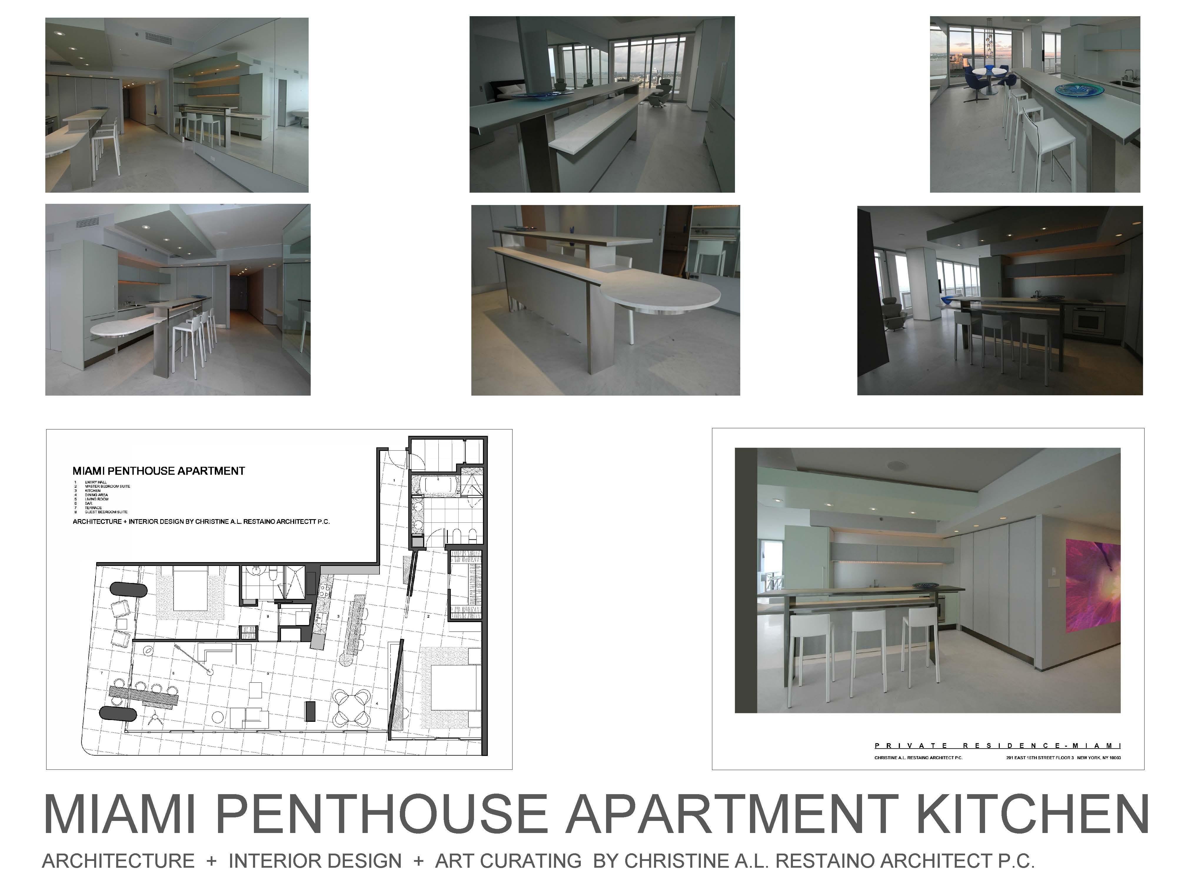 Miami Penthouse Kitchen - Photo Composite Dan Zaharia + Christine Restaino