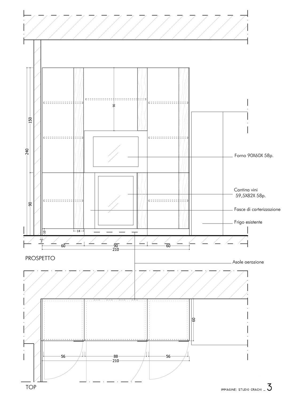 Progetto esecutivo blocco colonne 1- pianta e prospetto Studio Crachi
