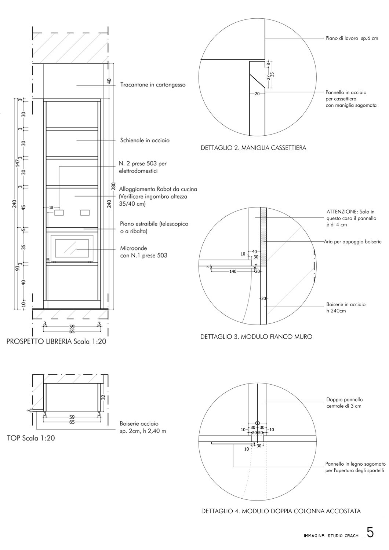 Progetto esecutivo- dettagli esecutivi Studio Crachi
