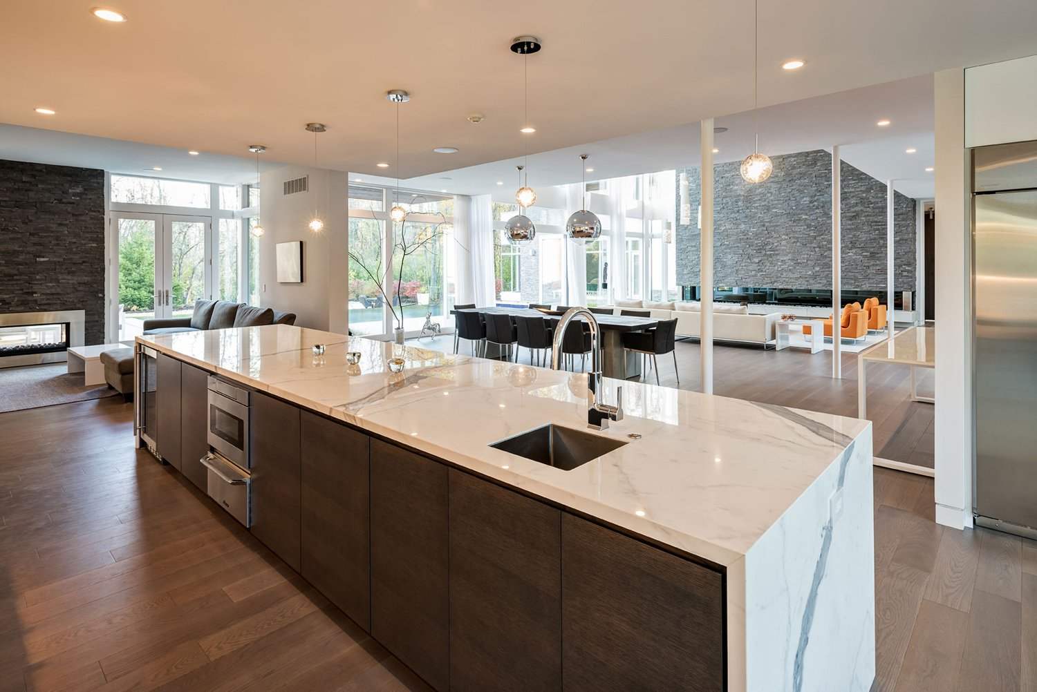The kitchen of the Bentleyville Residence Christian Phillips Photography
