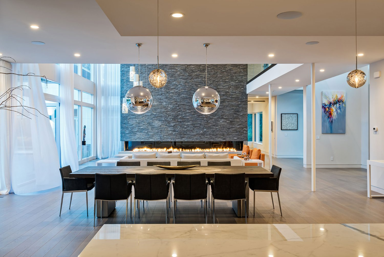 A gathering area at the Bentleyville Residence Christian Phillips Photography