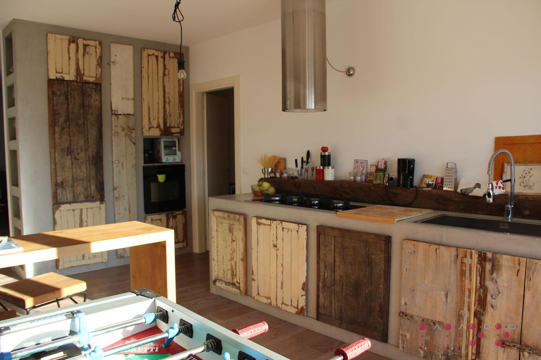 Base lavello-fuochi-lavastoviglie e mobile frigo-congelatore-forno AaOo