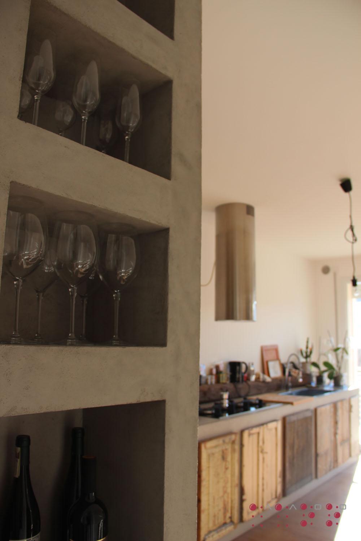"""Mobile frigo-congelatore-forno - lato """"enoteca"""" e Base lavello-fuochi-lavastoviglie AaOo"""
