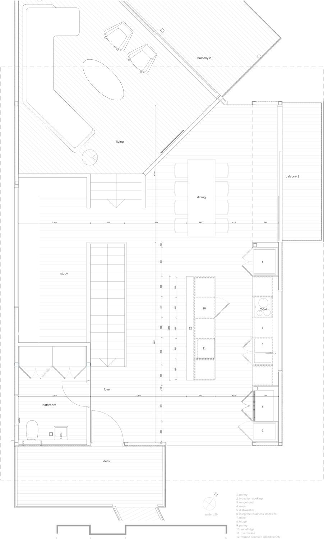 1:20 Kitchen floor plan RAAArchitects