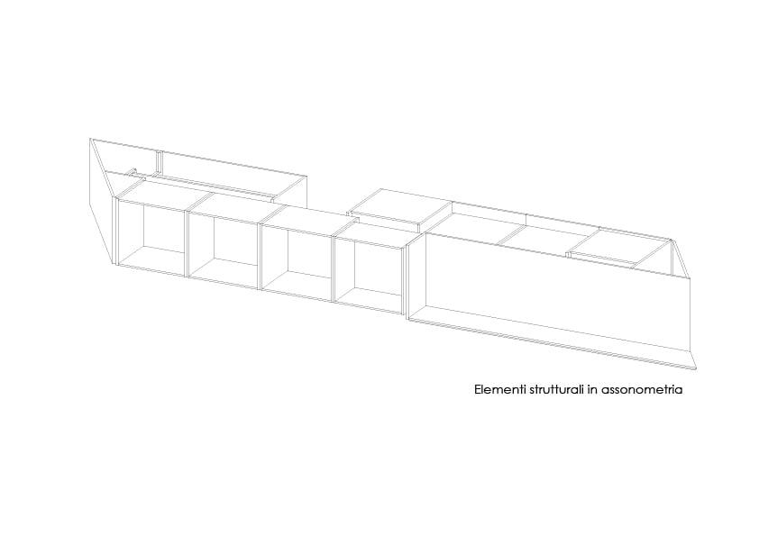 Elementi strutturali in assonometria 3ndy Studio