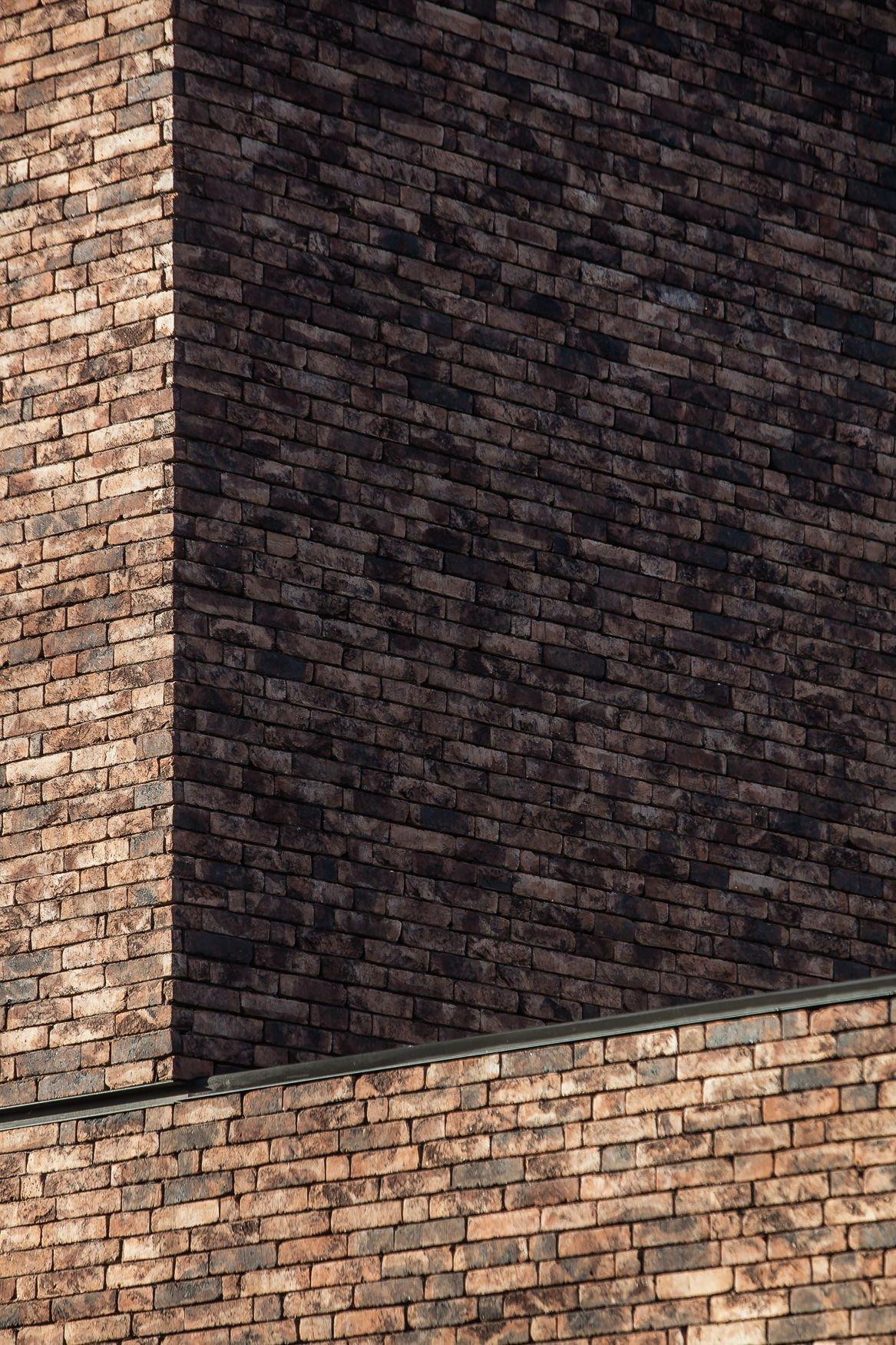 Detail of brick facade Thomas De Bruyne (Cafeine.be)