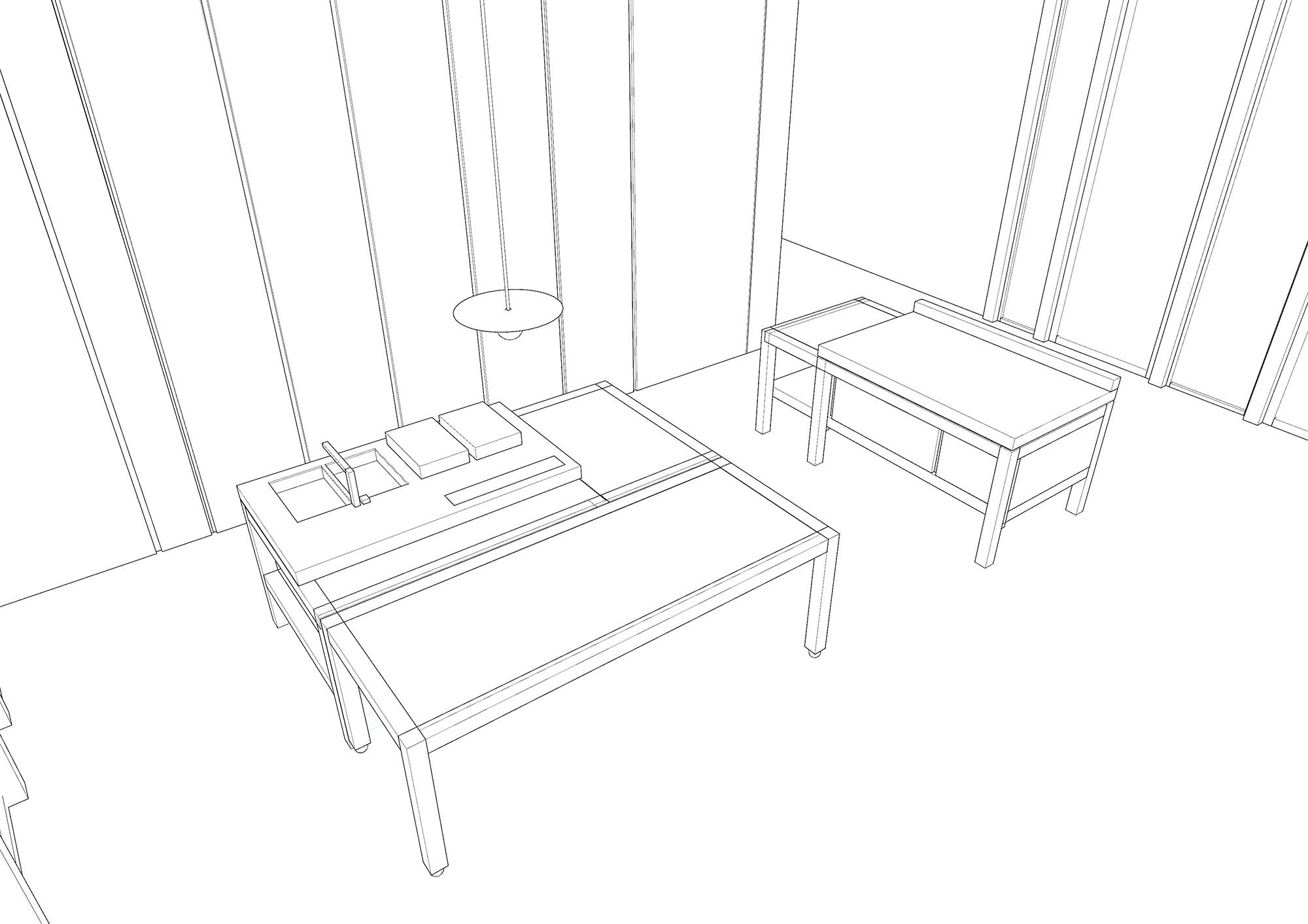 schema tridimensionale simone subissati architects