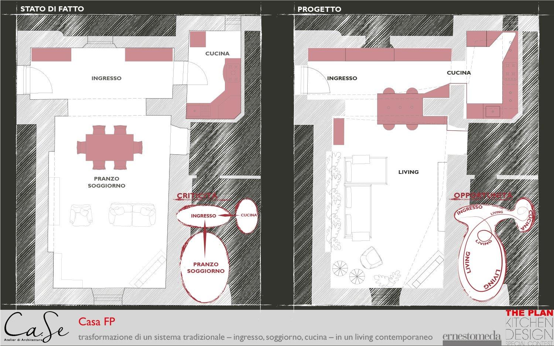 Piante - stato di fatto e progetto Ca.Se Atelier di Architettura