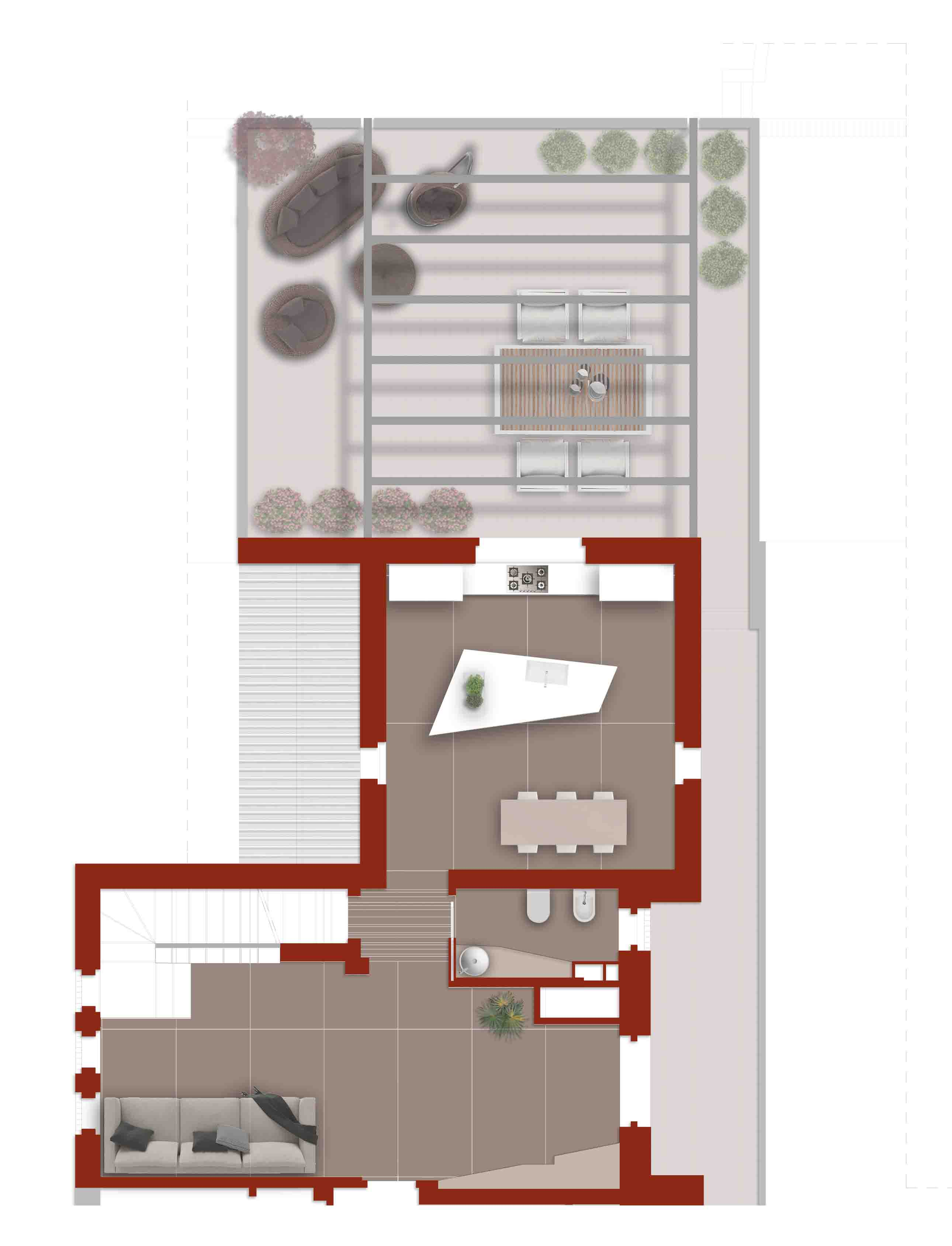 Planimetria della zona giorno (main apartment) arrighi giuseppe fotografo
