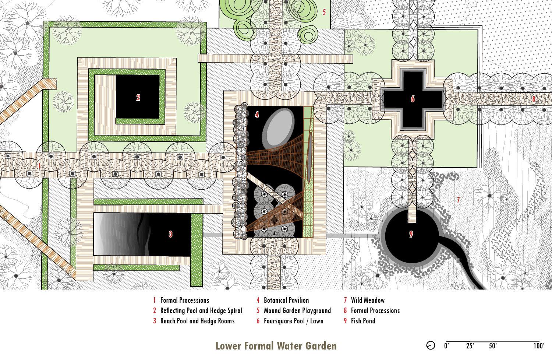 Lower Formal Water Garden University of Arkansas Community Design Center}