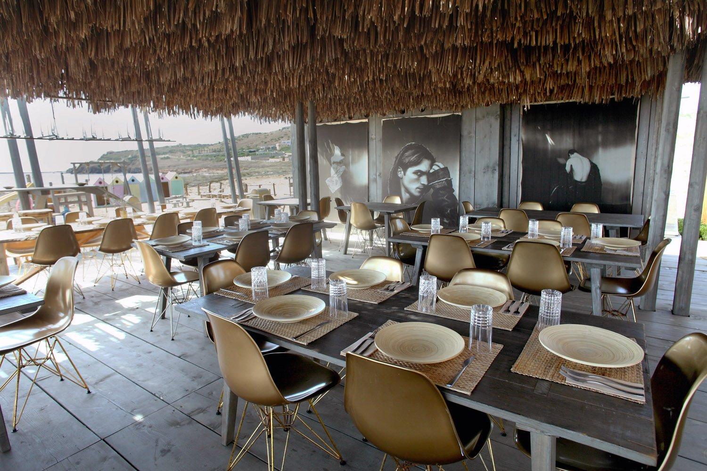Area ristoro con vista verso l'area ludica STUDIO SALVATORE PULEO ARCHITETTO