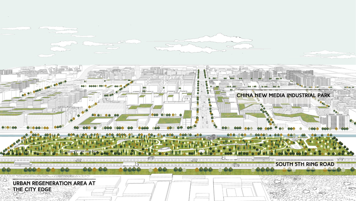 Site Between  China New Media Industrial Park and Urban Regeneration Area at the City Edge COBBLESTONE}