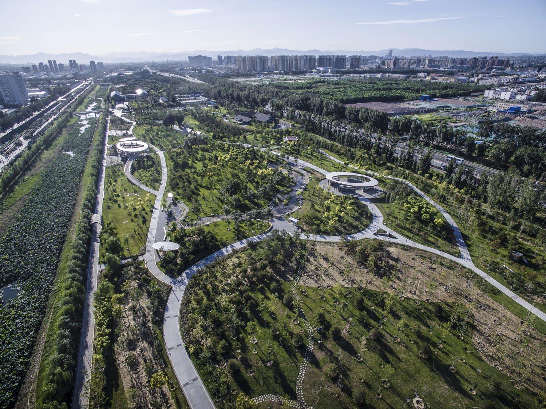 A bird's eye view of the park Hu Yijie