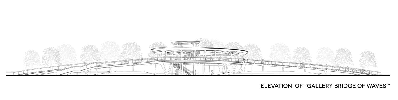 elevation of Gallery Bridge of Waves COBBLESTONE}